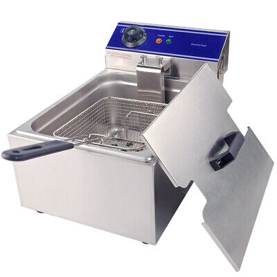 3kw Electric Deep Fryer Commercial Restaurant Countertop Basket Stainless Steel