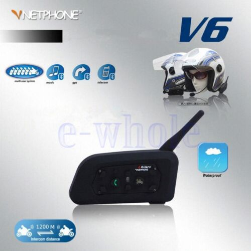 EJEAS V6 Bluetooth Helmet Interphone 1200M Waterproof 2 People Communication  GW
