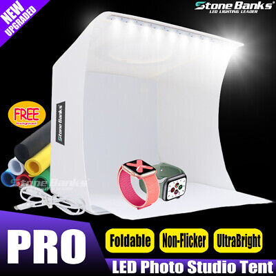 Pro COB LED Photo Studio Photography Tent Light Room Cube Mini Box 6x Backdrops
