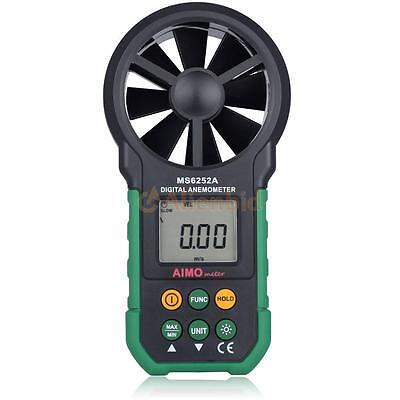 AIMOMETER MS6252A LCD Digital Wind Speed Air Volume Velocity Anemometer Meter