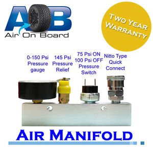 Manifold 001 complete Air compressor ARB Endless Air TJM on board 4wd pneumatic
