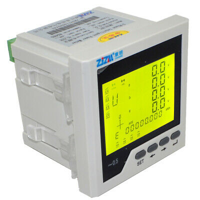 Rs485 Multifunction Intelligent Digital Lcd Display Three-phase Power Meter