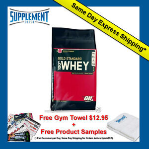 OPTIMUM NUTRITION 100% WHEY GOLD STANDARD PROTEIN 10LB *  4.54KG WPI WPC POWDER