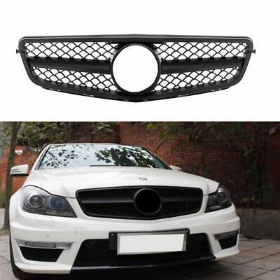 For Mercedes Benz C63 AMG Style Matte Black Grill C-Class W204 C300 C350 08-14