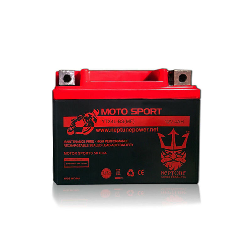 Replacement YTX4L-BS Battery for Motorcycle Scooter ATV By Neptune