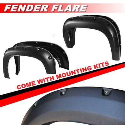 Black Textured Fender Flares Pocket Style For 1988-1998 Chevy / GM (Pickup Truck Fender Flares)
