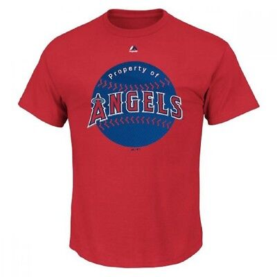 Majestic Los Angeles Angels of Anaheim Mens Electric Ball Tshirt 632030 XL $28