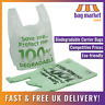 100 x Large Biodegradable Carrier Bags | 11 x 17 x 21