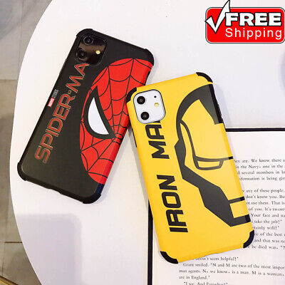 Best Cool Spiderman And Iron Man Soft Phone Case Cover For iPhone 11 Pro Max 7 8