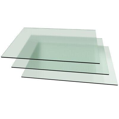 B-Ware 3x Glasplatten Glasscheiben Milchglas  5 mm