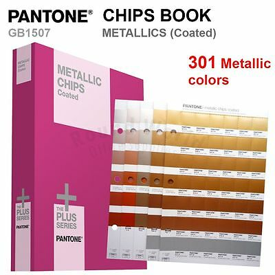 Pantone Color Plus Series Gb1507 Metallic Chips Book Coated 301 Colors