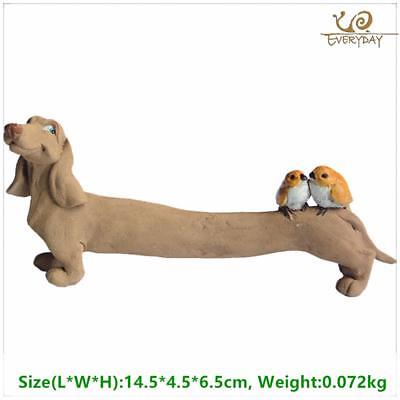 Collection Resin Dachshund Dog Figurines Home Decoration Accessories Fairy Garde ()