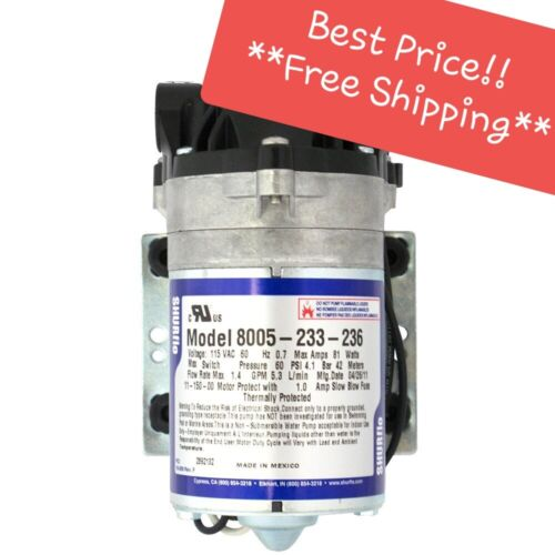 **NEW** SHURFLO 8005-233-236 Demand Pump -1.5gpm, 60psi, 3/8 FPT, 115VAC No Cord