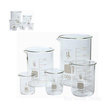 Flask Set Laboratory Glassware Science Lab Chemistry Beaker Supplies