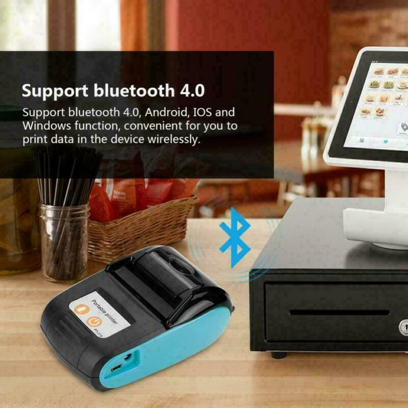 58MM Portable Bluetooth Thermal Label Printer Wireless Receipt Machine Handheld
