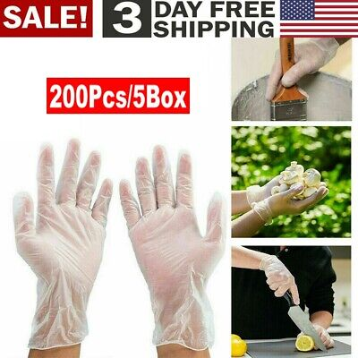 200pcs Disposabl Pvc Gloves Clear - Powder Free Personal Protective Gloves Usa