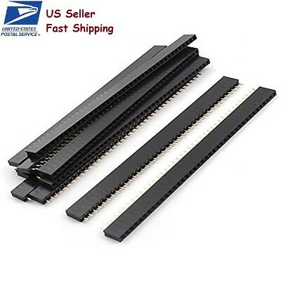 10 Pcs 40pin 2.54mm Single Row Straight Female Pin Header Strip Pbc Ardunio -usa