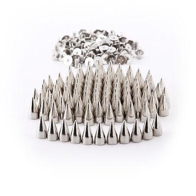 100 Stück silber 7×15mm Metall DIY Spitze Killer Nieten Ziernieten Schraubnieten