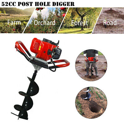 Gas Powered Post Hole Digger Earth Auger Drill Bits Or Extension For Plant Tree