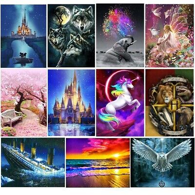 5D Diamond DIY Painting Photo Picure Embroidery Cross Crafts Stitch Kit Decors
