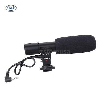 (Audio Professional Condenser Microphone Studio Recording Mic Hot Shoe Mount)