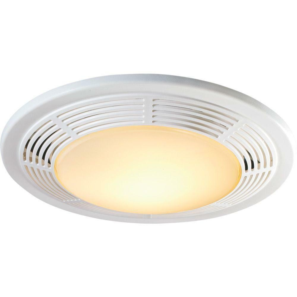 NuTone 100 CFM Bathroom Ceiling Exhaust Fan With Light up to 95 SQ ...