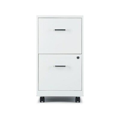 Staples 2-Drawer Vertical File Cabinet Locking Letter White 18