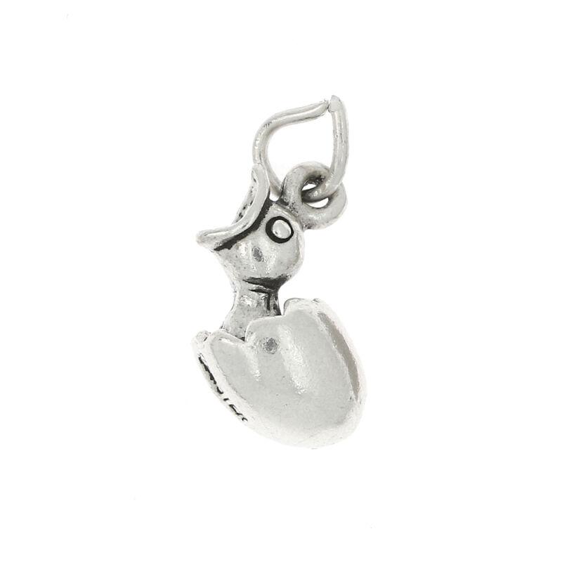 STERLING SILVER HATCHING CHICK CHICKEN CHARM OR PENDANT