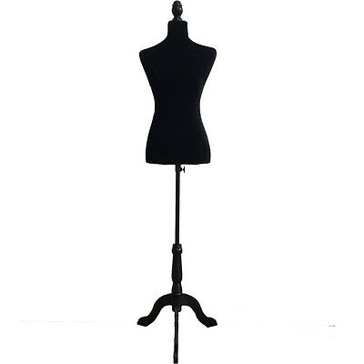 New Female Mannequin Torso Clothing Display with Black Tripod Stand Fiberglass