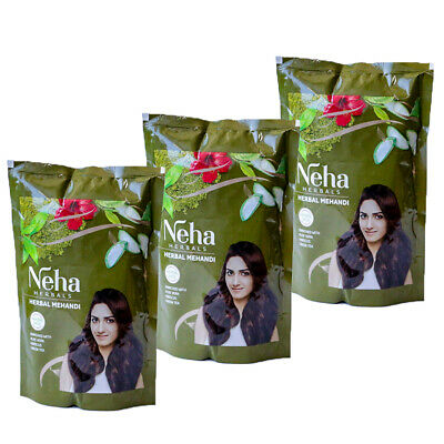 Neha Herbal Natürliche Henna Rotbraun  & Kräutern, Grune Tee, Alovera 140g- 500g (Natürliche Tees)