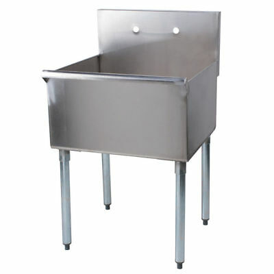 24 X24 X 14 W Faucet Stainless Steel Commercial Utility Sink Prep Laundry Tub