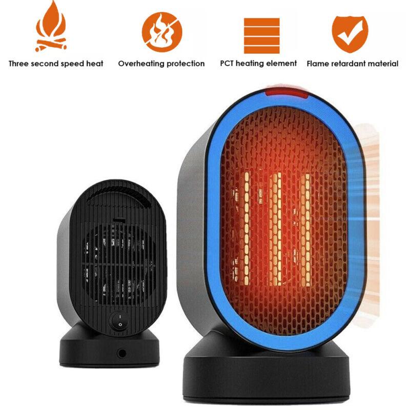 Portable Electric Ceramic Heater Desktop Ceramic Space 600W Black Indoor for use