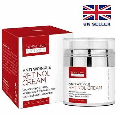 Retinol 2.5% anti wrinkle / ageing cream moisturiser 50ml collagen boosting