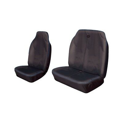 Heavy Duty Van Seat Covers Protectors Black With Blue Piping Nissan Kubistar