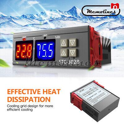 Ac110-220v 10a Stc-3028 Dual Led Temperaturehumidity Control Thermostat Probe