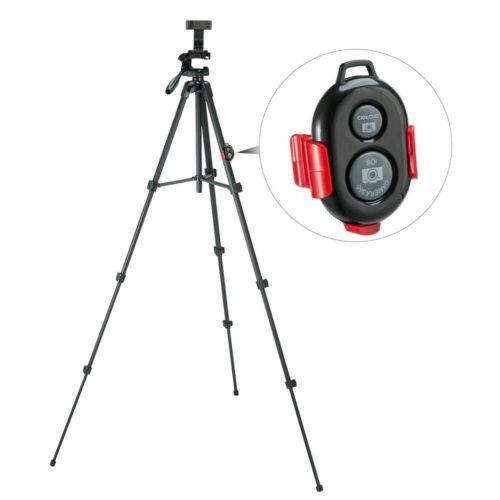 ZOMEi T90 Tr/ípode para Tel/éfono M/óvil Tr/ípode Ajustable con Obturador Remoto Bluetooth Rojo Soporte de Tel/éfono m/óvil y Bolsa 135 cm Aluminio Tr/ípode Ligero para C/ámara