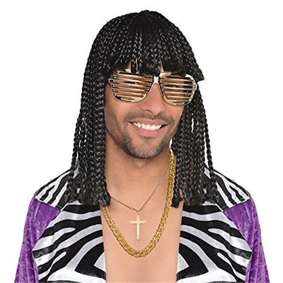 Supafreak Wig Adult Costume Accessory - Fancy Dress Supa Freak Rick James - Rick James Costume