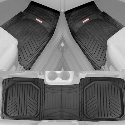 Motor Trend TriFlex Deep Dish All Weather Floor Mats for Car SUVs Trucks - (2006 Toyota Highlander Floor Mats All Weather)
