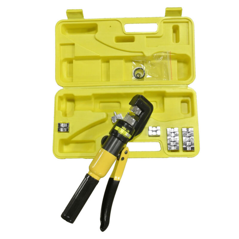 YQK-70 Portable 10 Ton Hydraulic Pliers with 9 Dies Battery Cable Lug Terminal