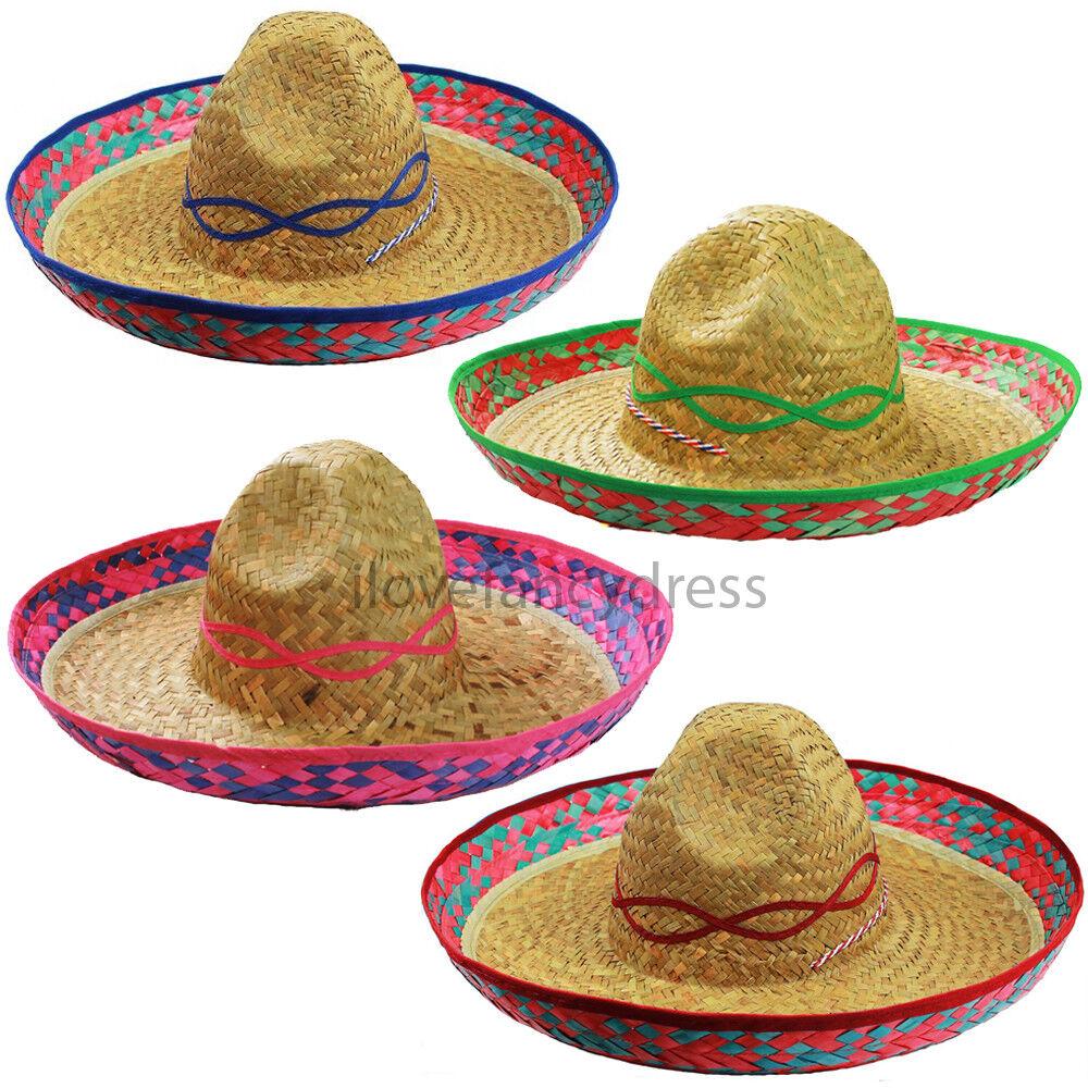 100 X MEXICAN SOMBRERO HAT WILD WESTERN BANDIT FANCY DRESS EVENT BULK JOB LOT