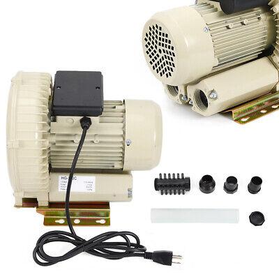 12kpa High Pressure Industrial Air Pump Blower 110v 370woutput 60mh Usa Stock