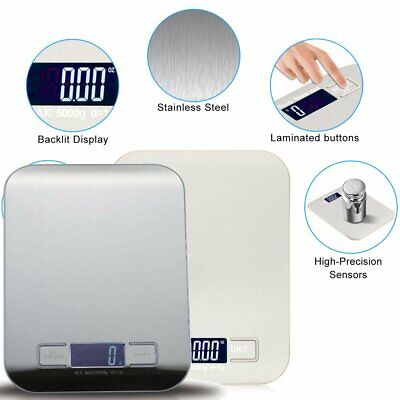 Kitchen Postal Scale Electronic Lcd Digital Weight Food Balance Stainless Steel