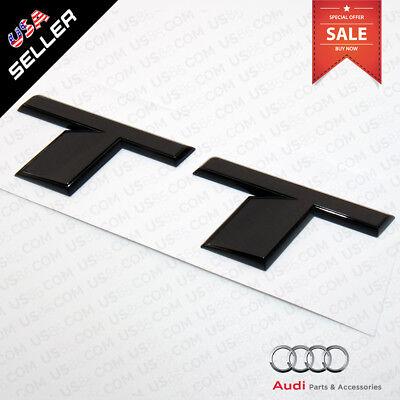 Car 3D ABS Auto Emblem Audi TT Gloss Black Logo Sticker Rear Tail Badge Trunk 16