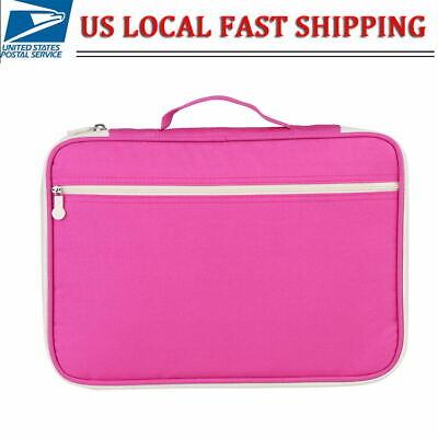 A4 Document Bag Computer Notebook Zippered Case File Folder Portfolio Organizer