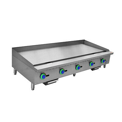 60 Commercial Countertop Gas Griddle With Manual Controls-150000 Btu