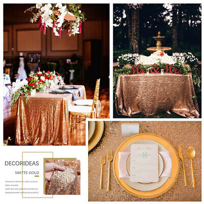 Rose Gold Sequin Tablecloth Glitter Sparkly Party Table Cloths For Wedding