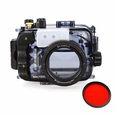 Seafrogs 60M/195ft Underwater Camera Housing Case for A6000 A6300 A6500 16-50mm