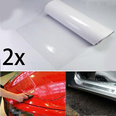 2X Clear Film Headlight Bumper Hood Door Sill Edge Paint Protection Universal