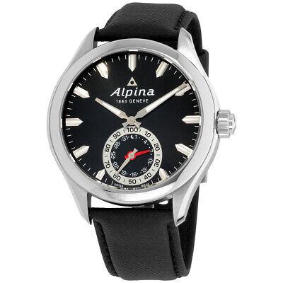 Alpina Horological Smartwatch Quartz Movement Black Dial Men's Watch AL285BS5AQ6