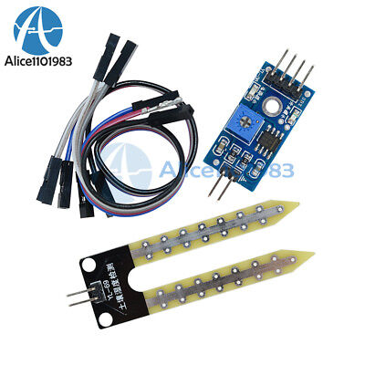2pcs Soil Hygrometer Detection Module Soil Moisture Sensor For Arduino Smart Car